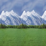 Фон бумажный Ella Bella 56875 Fadeless Mountains горы 1.2x3 м