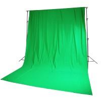 Фон Fotokvant BG-3036 зеленый 3x3.6 м