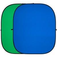 Двухсторонний тканевый фон хромакей Fotokvant BG-1821 1.8x2.1м
