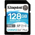 Карта памяти Kingston SDXC Class 10 UHS-I U3 V30 (170/90 MB/s) 128Gb