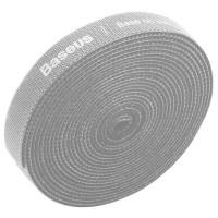 Стяжка кабеля Baseus Colourful Circle Velcro strap 3м серая