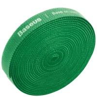 Стяжка кабеля Baseus Colourful Circle Velcro strap 3м зеленая